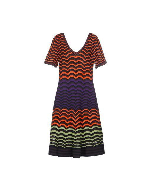 Missoni | Женское Оранжевое Платье До Колена
