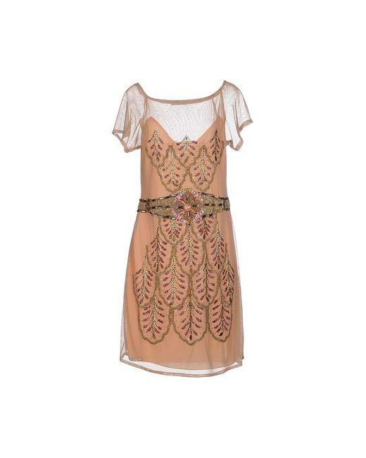Le Ragazze Di St. Barth | Женское Телесное Короткое Платье