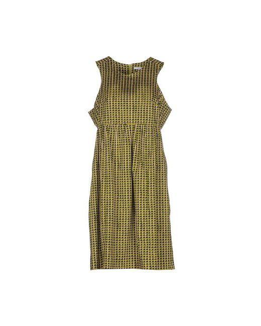 Carven | Женское Зелёное Платье До Колена