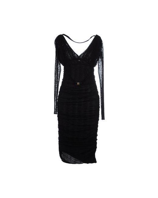 Versace Collection | Женское Чёрное Платье До Колена