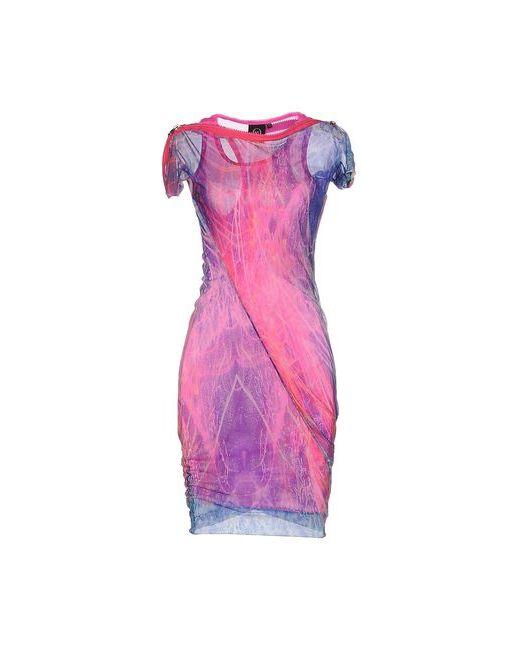 Mcq Alexander Mcqueen   Женское Розовое Короткое Платье
