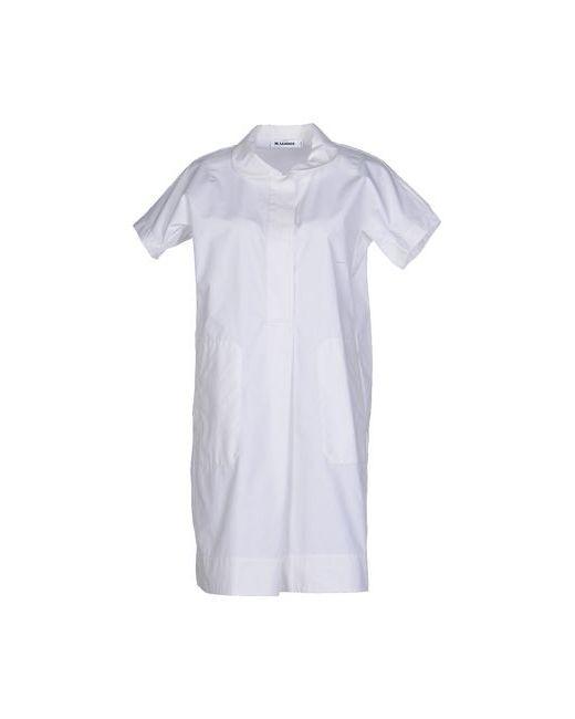 Jil Sander | Женское Белое Короткое Платье