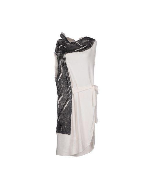 Oblique | Женское Белое Короткое Платье