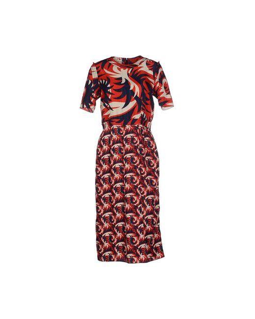 Marni | Женское Красное Платье До Колена