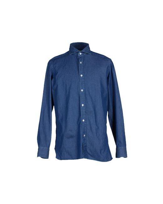 Luigi Borrelli Napoli | Мужская Синяя Джинсовая Рубашка