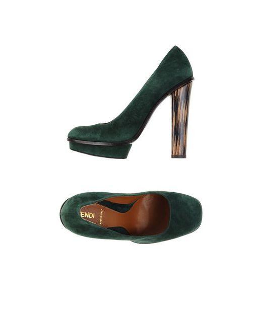 Fendi   Женские Зелёные Туфли