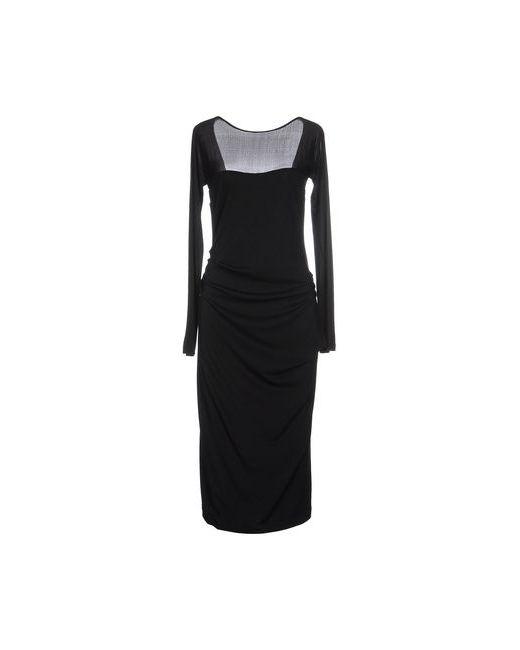 Donna Karan   Женское Чёрное Платье До Колена