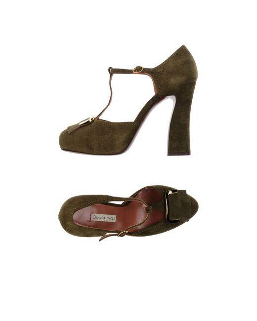L' Autre Chose   Женские Зелёные Туфли