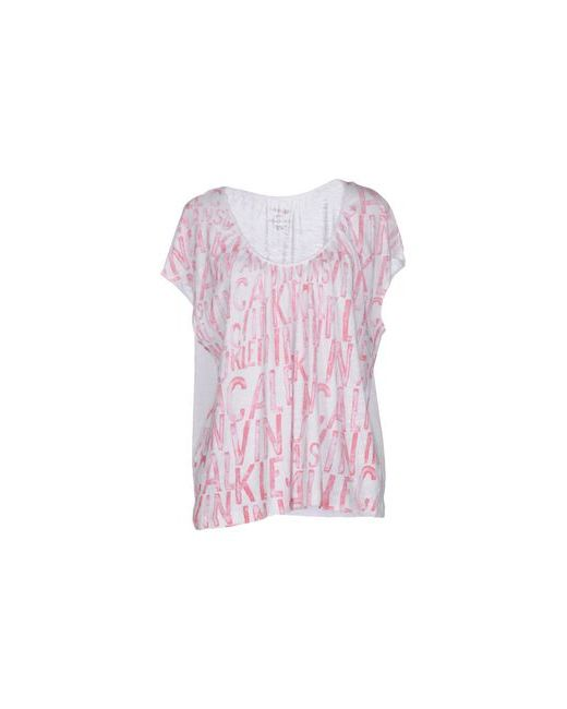 Calvin Klein Jeans | Женская Розовая Футболка