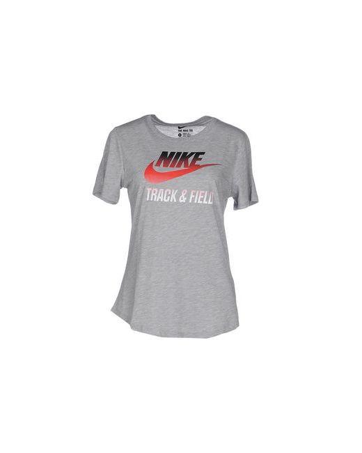 Nike   Женская Серая Футболка