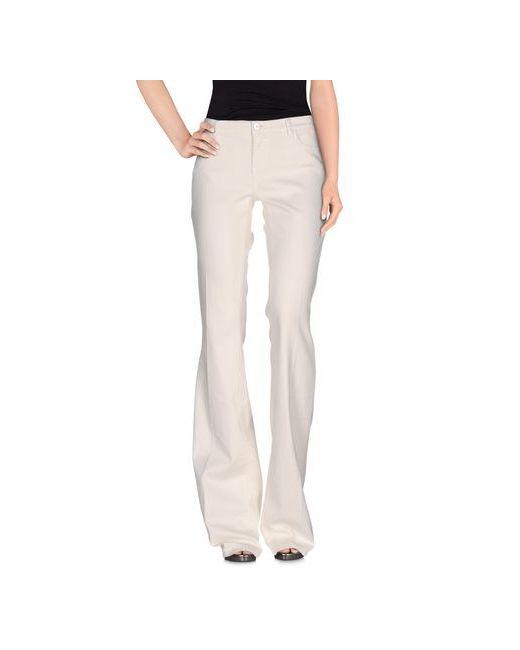 Twin-Set Jeans   Женские Слоновая Кости Джинсовые Брюки