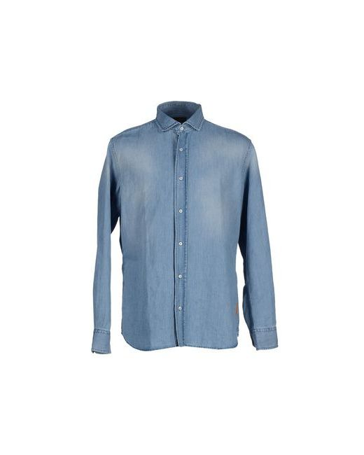 Baldessarini   Мужская Синяя Джинсовая Рубашка