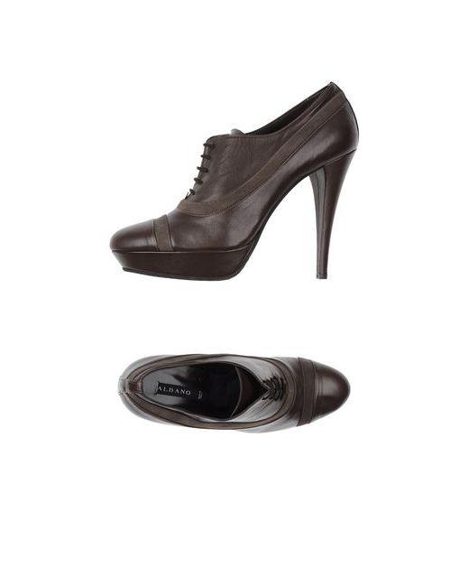 Albano | Женская Коричневая Обувь На Шнурках