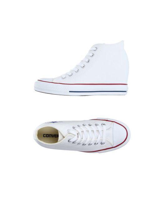 Converse All Star   Женские Белые Высокие Кеды И Кроссовки