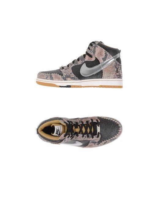 Nike   Мужские Серые Высокие Кеды И Кроссовки