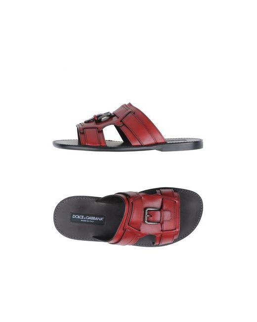 Dolce & Gabbana | Мужские Красные Сандалии