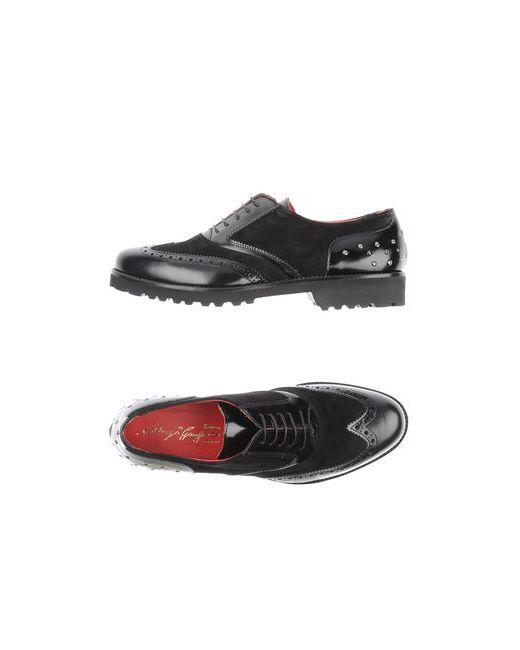 Gianfranco Lattanzi | Женская Чёрная Обувь На Шнурках