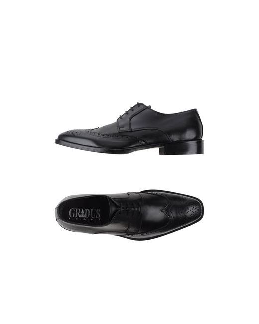 Gradus | Мужская Чёрная Обувь На Шнурках