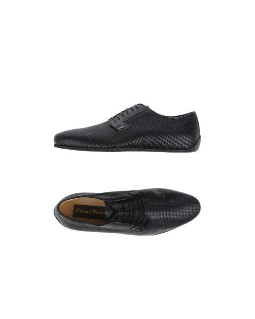 Cesare Paciotti   Мужская Чёрная Обувь На Шнурках