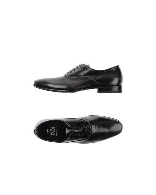 Fabi   Мужская Серая Обувь На Шнурках