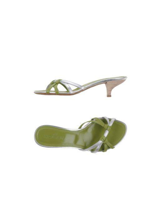 Hogan | Женские Зелёные Сандалии