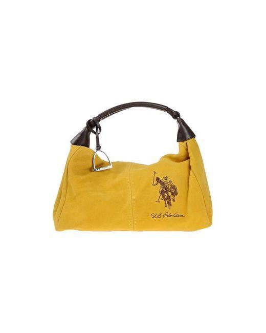 U.S. Polo Assn.   Женская Жёлтая Сумка На Руку
