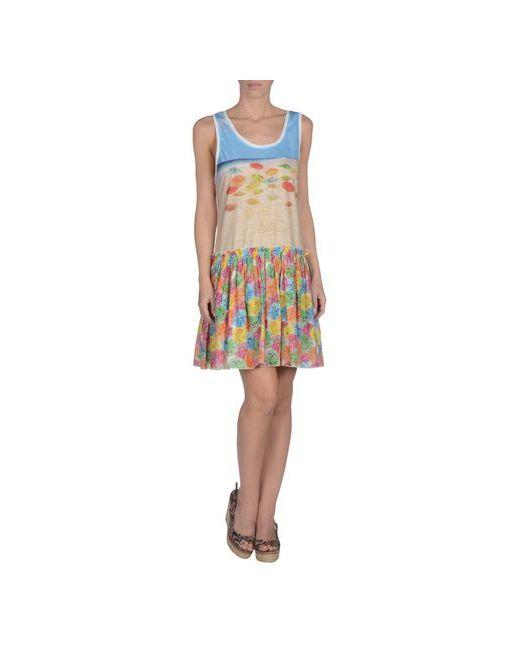 Moschino Swim | Женское Бежевое Пляжное Платье