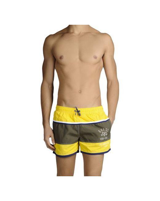 Guess   Мужские Жёлтые Шорты Для Плавания