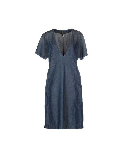 Manila Grace   Женское Синее Короткое Платье