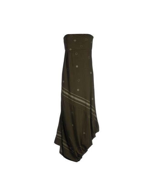 Manila Grace Denim | Женское Зелёное Длинное Платье