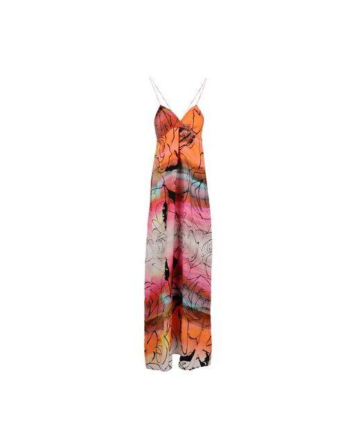 Adele Fado | Женское Оранжевое Длинное Платье