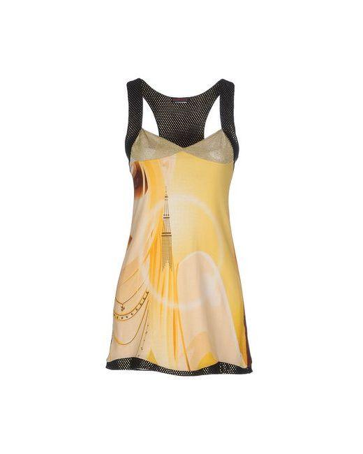 Custo Barcelona   Женское Жёлтое Короткое Платье