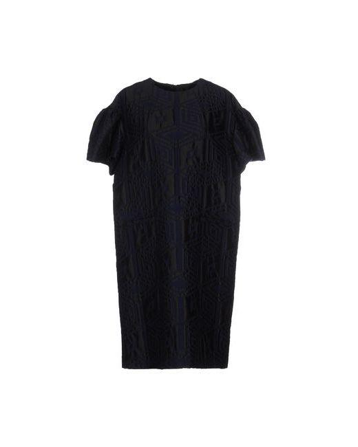 Dries Van Noten | Женское Синее Платье До Колена