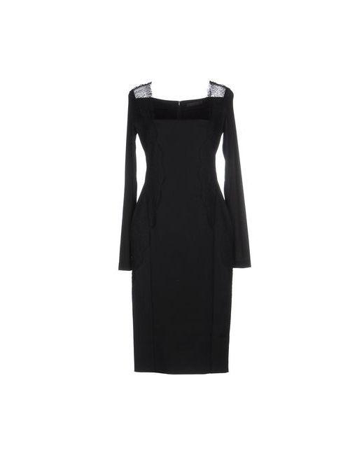 Donna Karan | Женское Чёрное Платье До Колена