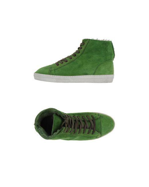 Yab | Женские Зелёные Высокие Кеды И Кроссовки