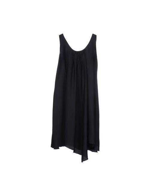 Silk And Soie | Женское Синее Короткое Платье