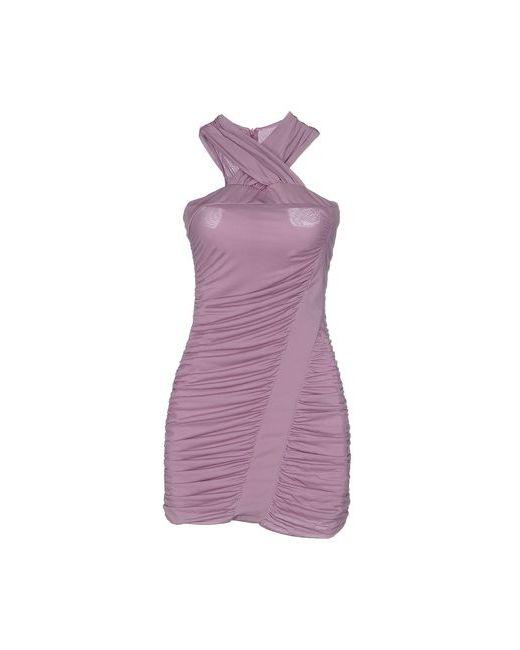 Pinko Black | Женское Розовато-Лиловое Короткое Платье