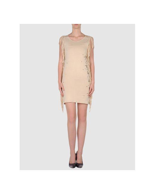 MET | Женское Бежевое Короткое Платье