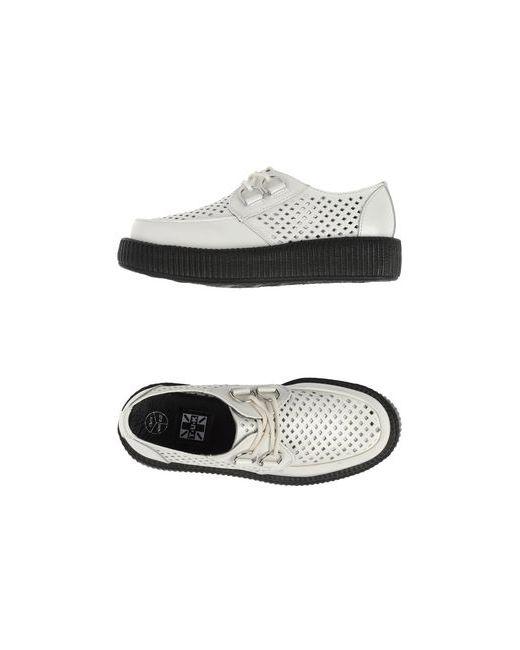 T.U.K   Женская Белая Обувь На Шнурках