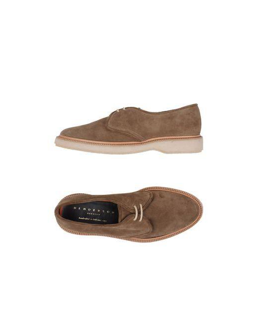 HENDERSON BARACCO | Мужская Хаки Обувь На Шнурках