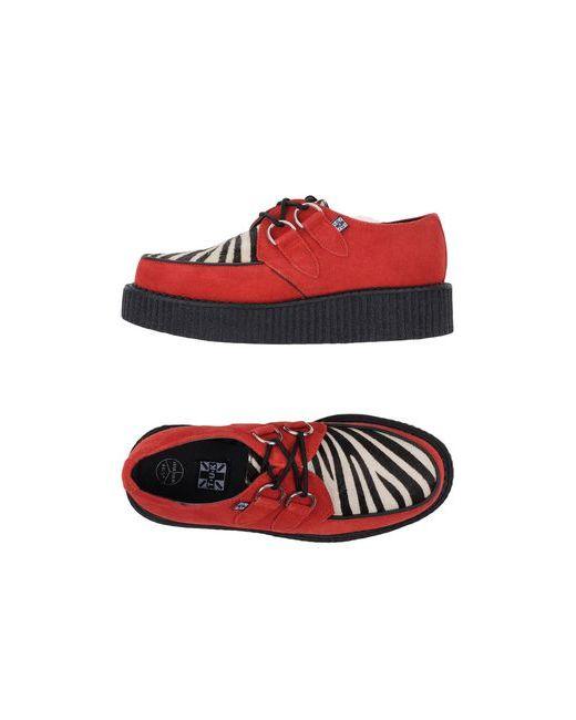 T.U.K | Мужская Красная Обувь На Шнурках