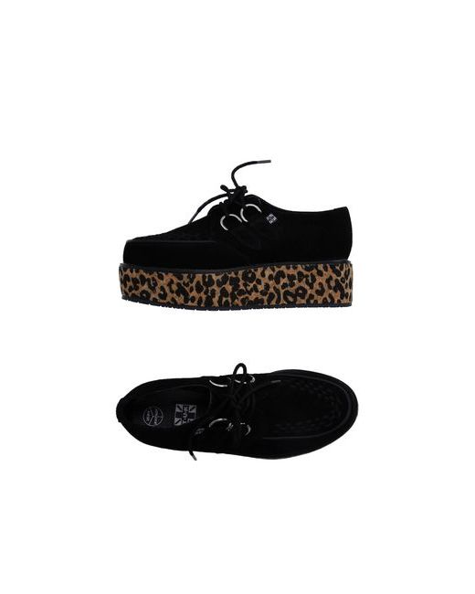 T.U.K | Мужская Чёрная Обувь На Шнурках