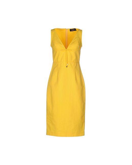 Dsquared2 | Женское Жёлтое Платье До Колена