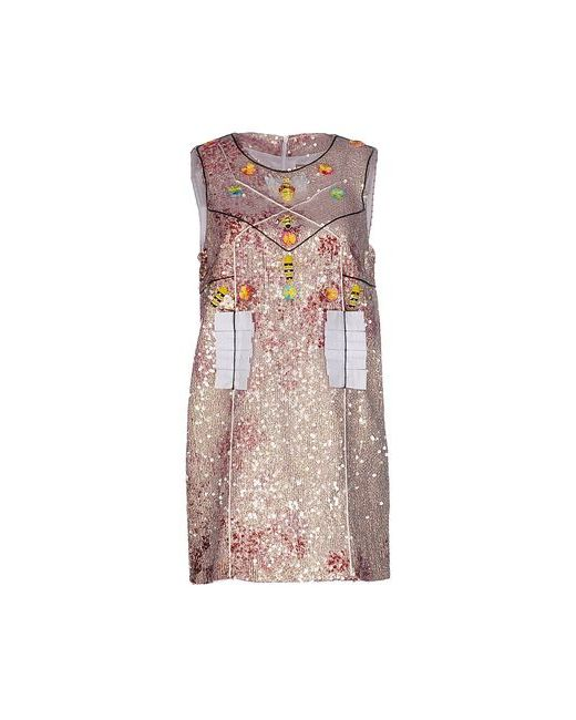 Piccione•Piccione | Женское Розовое Короткое Платье
