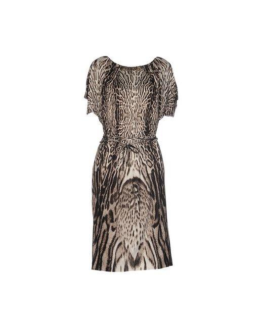 Roberto Cavalli | Женское Коричневое Платье До Колена