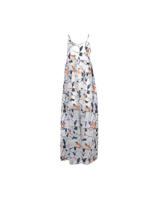 MSGM   Женское Серое Длинное Платье