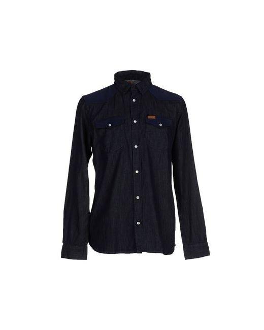 Carhartt | Мужская Синяя Джинсовая Рубашка
