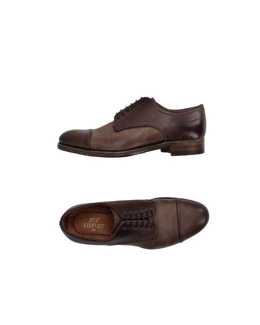 Lidfort | Мужская Коричневая Обувь На Шнурках