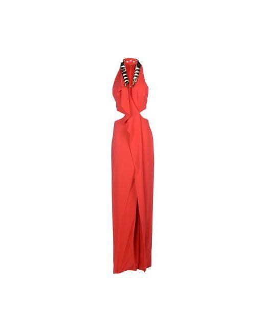 Just Cavalli   Женское Красное Длинное Платье