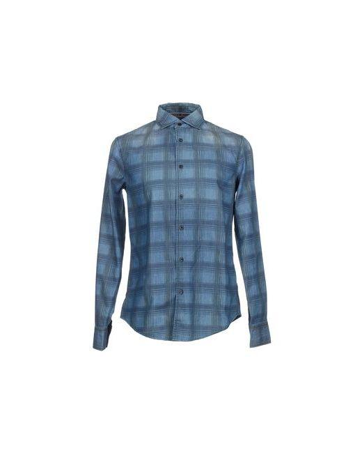 ARMANI JEANS | Мужская Синяя Джинсовая Рубашка